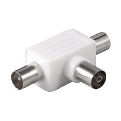 Koax T-Adapter: 2x Koax-Stecker