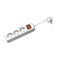 Goobay Steckdosenleiste mit Schalter 3 m, Weiß