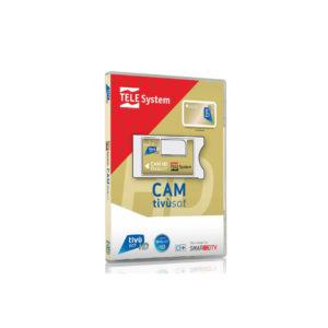 Telesystem Tivusat HD Smarcam CI+ 4K mit Tivusat Karte aktiviert