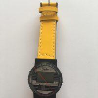 Funkarmbanduhr mit Kunststoff-Armband GELB