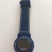Funkarmbanduhr mit Kunststoff-Armband blau