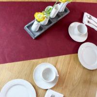 Tischläufer 40 x 120 cm bordeaux 10er Pack
